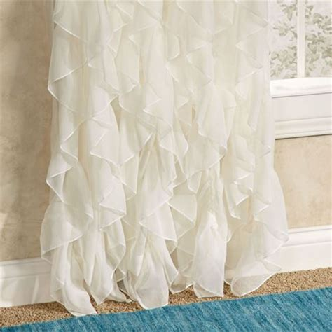 28 cascade ruffled voile shower curtain voile