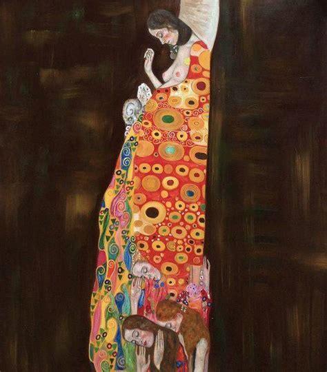 Gustav Klimt, Hope II (Full View)   Hand Painted Oil