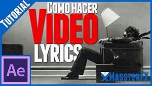 Video Lyrics Tutorial de After Effects YouTube