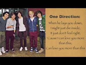 One Direction- More Than This Lyrics - YouTube