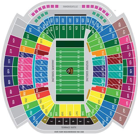 Jaguar Tickets by Jacksonville Jaguars Seating Chart Everbank Field