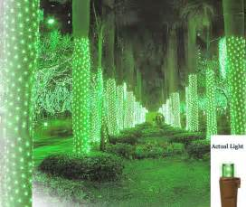 2 x 8 green led net style tree trunk wrap christmas lights brown wire ebay