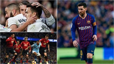 FC Barcelona Real Madryt Manchester United Manchester City ...