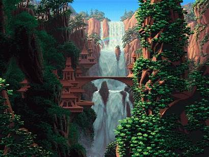 Pixel Nature Landscape Gifs Giphy Animated Backgrounds