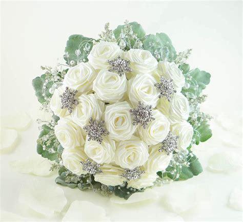 ice crystal wedding bouquet origami bridal bouquet