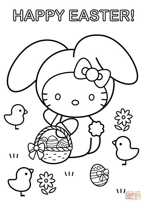 hello happy easter coloring page free printable coloring pages