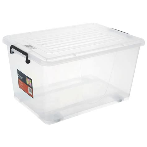 plastic storage tub all set 50l plastic storage tub with wheels bunnings