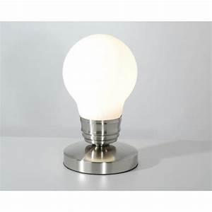 Lampe A Pile A Poser : lampe chevet tactile en forme d 39 ampoule luminaire original ~ Melissatoandfro.com Idées de Décoration