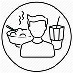 Meal Intake Icon Ingestion Lunch Dinner Drawing