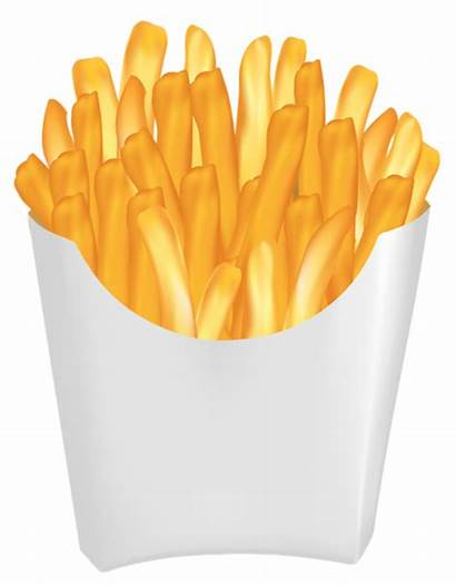 Fries French Clipart Frites Chips Transparent Clip