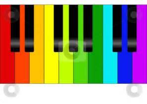 Colorful Piano Keyboard Clip Art