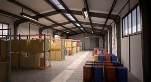 Small Warehouse Scene 3d Model