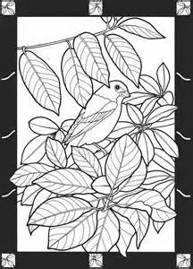 Stained Glass Coloring Book Pages Birds