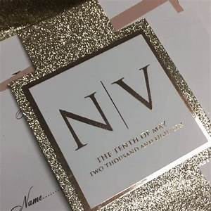 cartalia personalised handmade luxury invitations With rose gold glitter wedding invitations uk