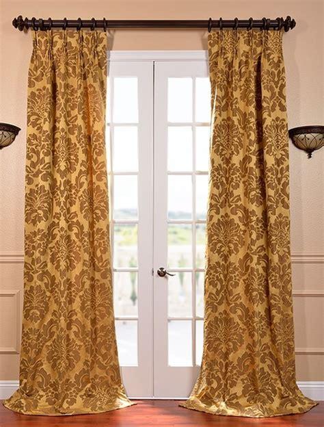 astoria gold bronze pleat faux silk jacquard