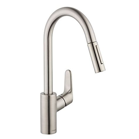 hansgrohe metro high arc pullout kitchen faucet hansgrohe bronze pull faucet bronze hansgrohe pull