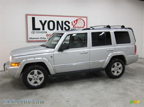 jeep commander silver lifted 2006 jeep commander limited 4x4 in bright silver metallic