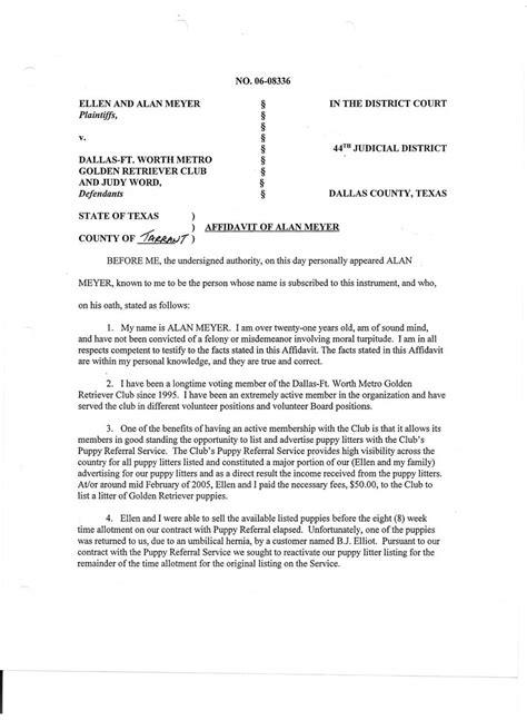 dfwmgrc law suit plaintiffs affidavits
