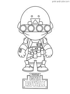 Fortnite Coloring Pages | Video Game Coloring Pages