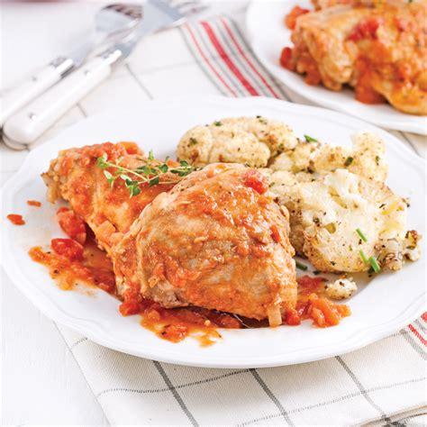 cuisiner haut de cuisse de poulet hauts de cuisses braisés à la bière et aux tomates soupers de semaine recettes 5 15