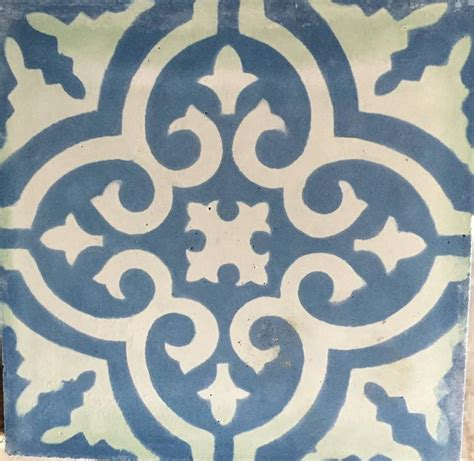 white home interiors granada blue white cement tiles haskell for sale at 1stdibs