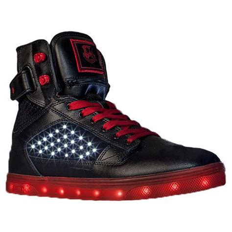 light up high tops men 39 s vlado atlas led light up shoes high top sneakers red