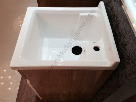 Small Corner Mop Sink by Modern 18 Quot Small Laundry Utility Sink Mop Slop Oak
