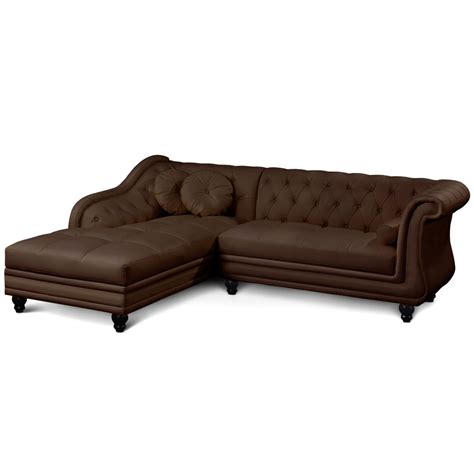 canape d angle simili canapé d 39 angle droit simili marron chesterfield