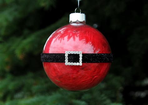 diy christmas santa ornament