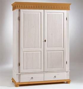 Massivholz Kleiderschrank Weiß : massivholz kleiderschrank 2t rig h he 200cm wei antik kiefer massiv schrank ebay ~ A.2002-acura-tl-radio.info Haus und Dekorationen