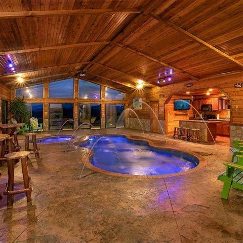 vacation cabin  pigeon forge indoor pool design indoor pool indoor swimming pools