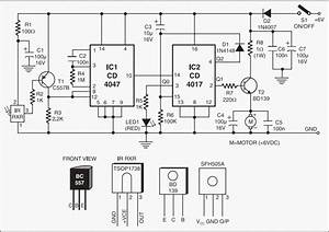 Infrared Remote For Toy Car Motor Controller Circuit Project