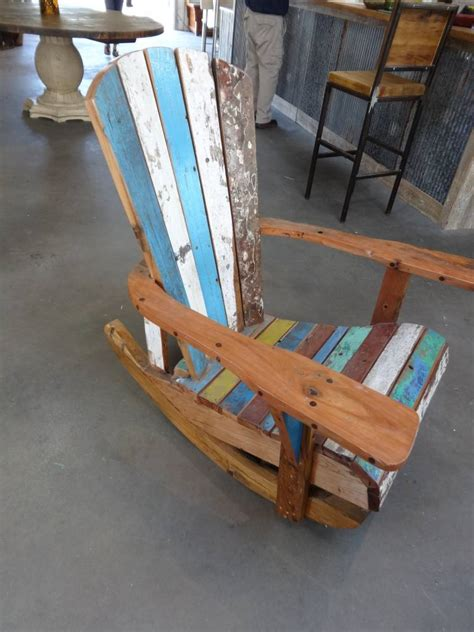 teak fishing boat rocking chair sarasota architectural