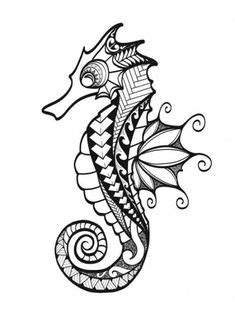 Ocean Blue - Seahorse | Urban Threads: Unique and Awesome Embroidery Designs | Paper embroidery