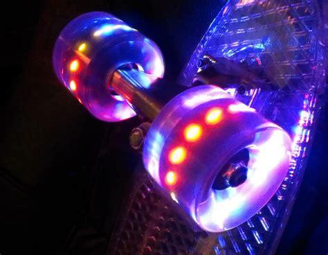 light up skateboard wheels new led light up cruiser skateboard wheels 59mm 78a w abec