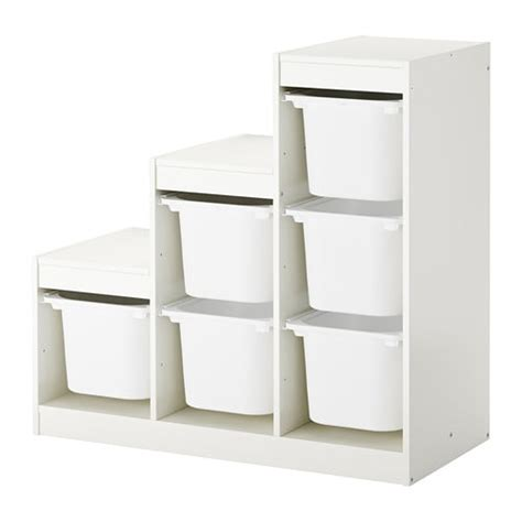 kitchen storage furniture ikea trofast storage combination with boxes white 99x44x94 cm