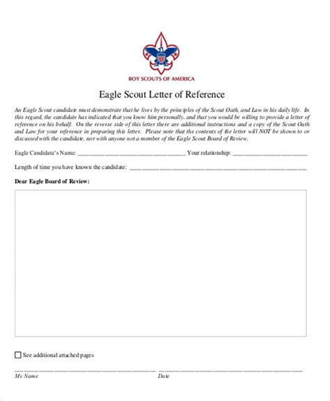 eagle scout recommendation letter template 9 sle eagle scout recommendation letter templates pdf sle templates