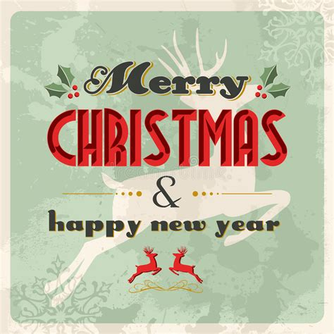merry christmas and happy new year vintage royalty free stock image image 27822356