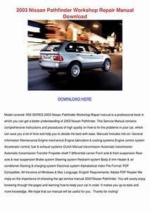 2003 Nissan Pathfinder Workshop Repair Manual By