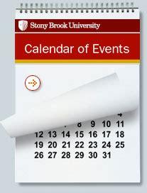 stony brook university calendars