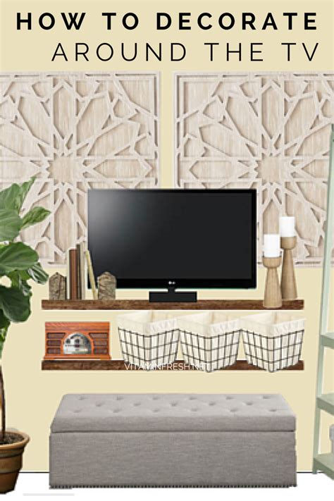 Decorating Ideas Tv Consoles by How To Decorate Around A Tv Living Room