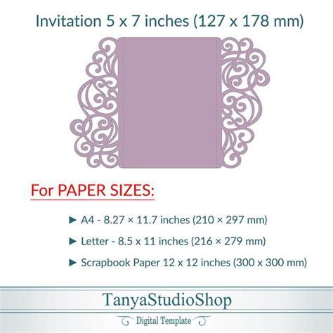 Gate fold 5x7'' invitation template SVG ai CRD Etsy