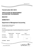 Unisa assignments answers