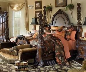 Aico, Essex, Manor, Queen, Four, Poster, Bed, Bedroom, Set, Master, Bedroom, Furniture