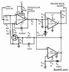 Square Triangle Vco - Oscillator Circuit