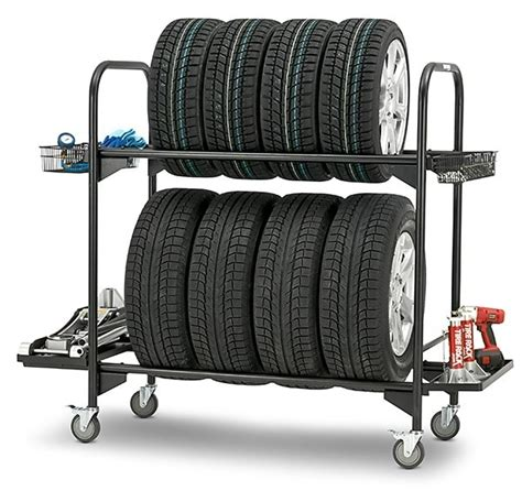 the tire rack tire rack rolling tire storage rack