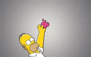 Homer Simpson And Apple