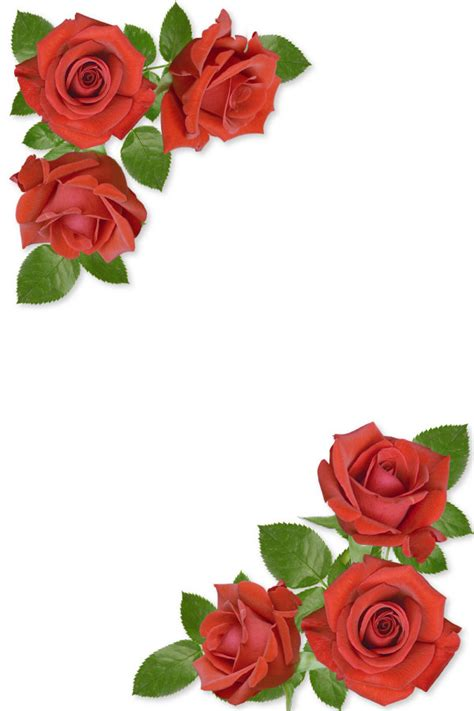 border of roses designs of border with red roses clipart best