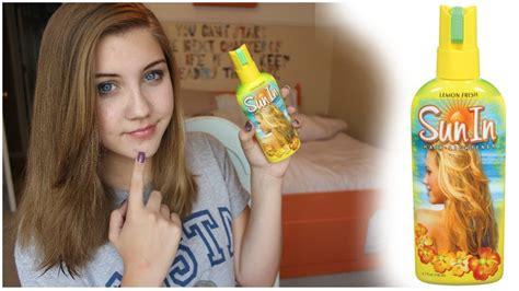 sun   scam hair lightener demo youtube