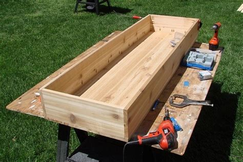 diy waist high planter box home design garden